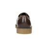 Hnědé kožené polobotky bata, hnědá, 826-4620 - 17