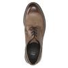 Hnědé kožené polobotky bata, hnědá, 826-4620 - 26