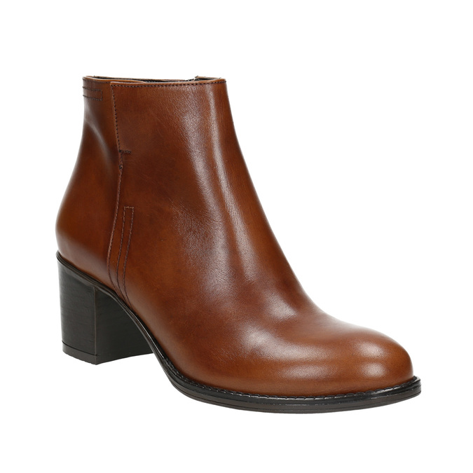 Kotníčková obuv na stabilním podpatku bata, hnědá, 694-4642 - 13