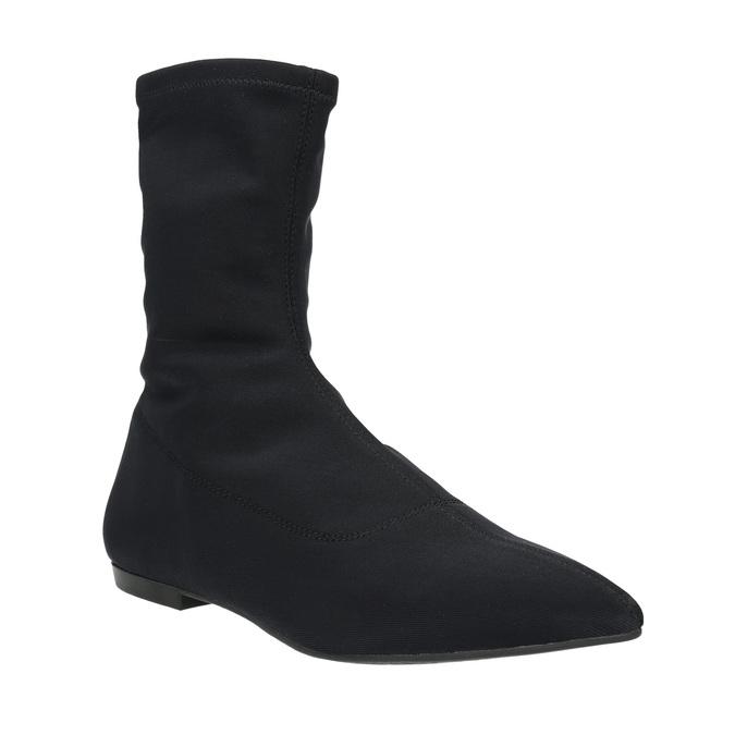 Černé dámské kozačky vagabond, černá, 519-6015 - 13