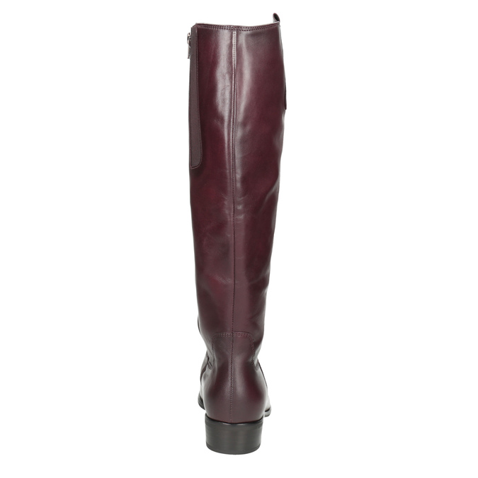 Vínové kožené kozačky gabor, červená, 696-5191 - 16