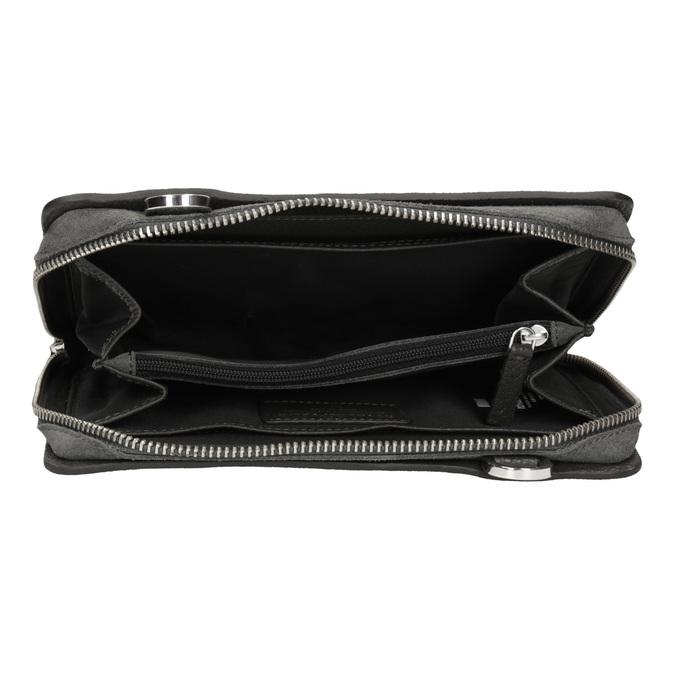 Kožená dámská Crossbody kabelka royal-republiq, šedá, 963-2050 - 15