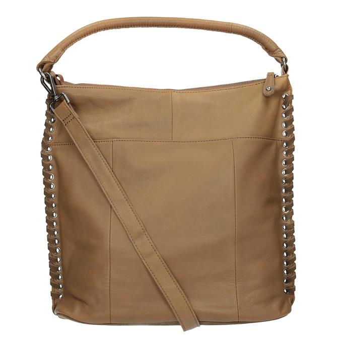 Kožená kabelka s propletením fredsbruder, hnědá, 963-3005 - 16