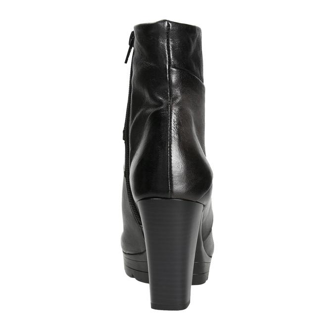Kožená kotníčková obuv na podpatku bata, šedá, 796-2650 - 16