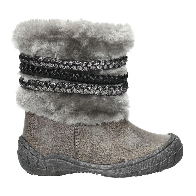 Dětská zimní obuv s kožíškem bubblegummers, šedá, 191-2620 - 15