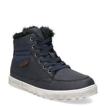 Dětská obuv se zateplením mini-b, modrá, 491-9652 - 13