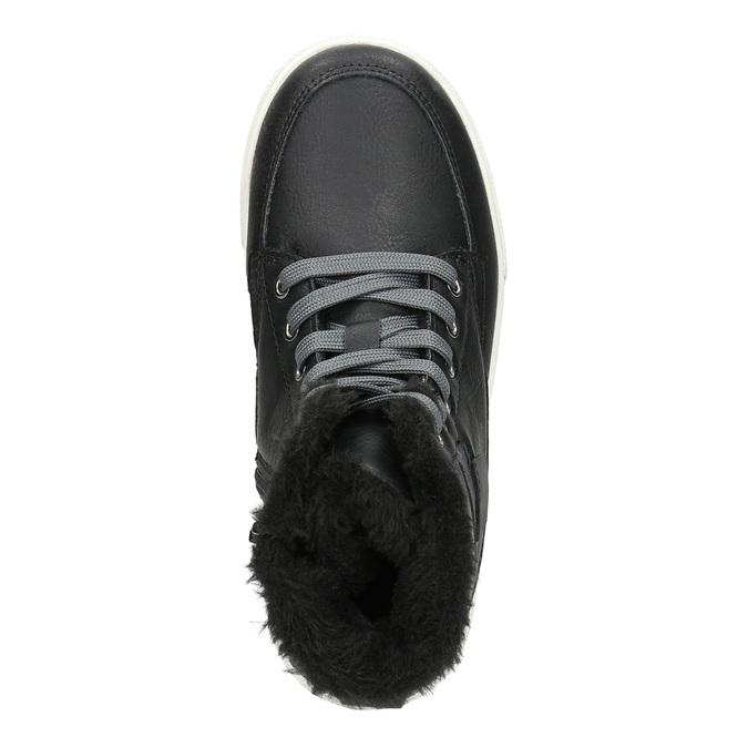 Zimní dětská obuv mini-b, černá, 491-6652 - 26