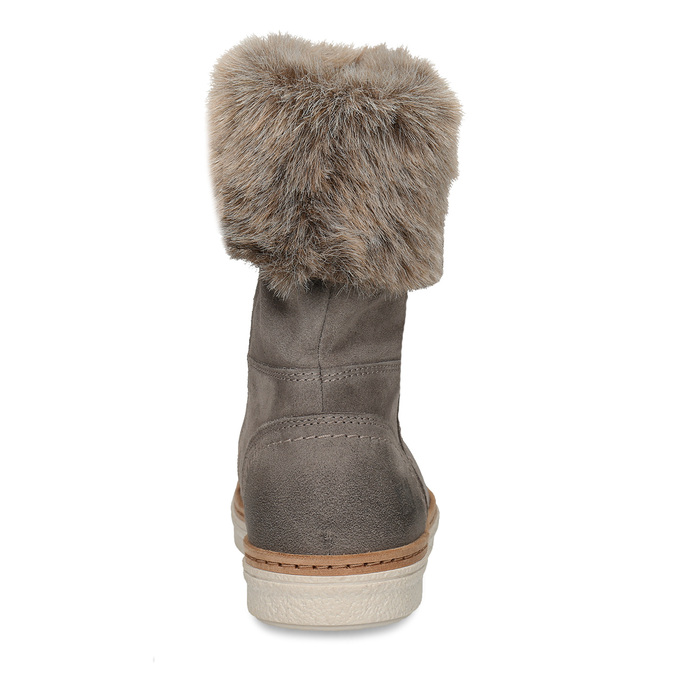 Kožená vycházková obuv s kožíškem weinbrenner, šedá, 596-2633 - 15