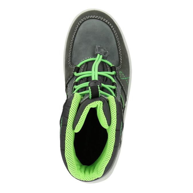 Kožené dětské zimní boty weinbrenner-junior, šedá, 493-2613 - 15