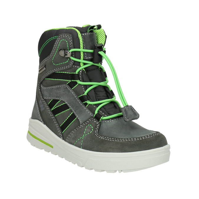 Kožené dětské zimní boty weinbrenner-junior, šedá, 493-2613 - 13