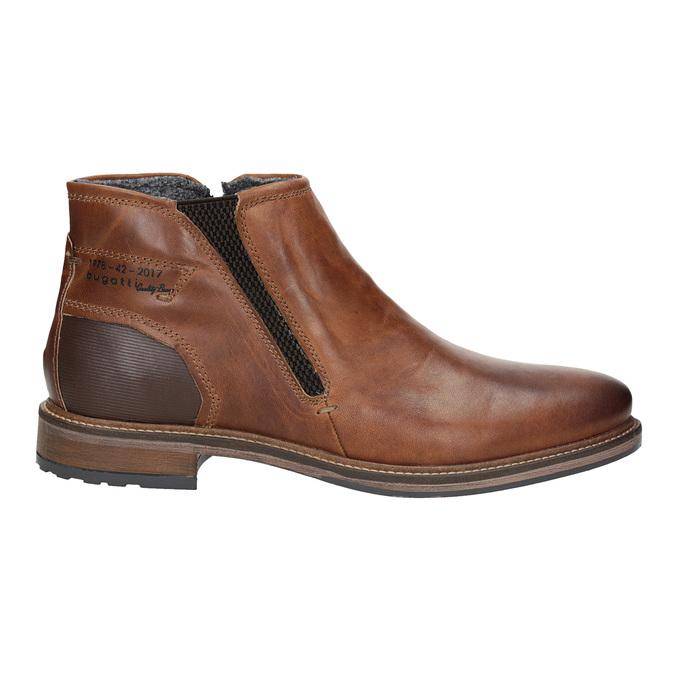 Pánská kožená kotníčková obuv bugatti, hnědá, 816-4044 - 26