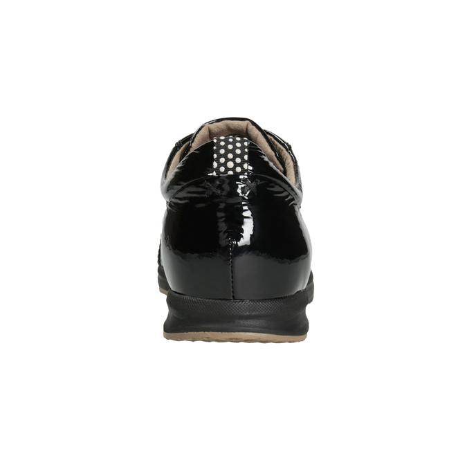 Černé kožené tenisky geox, černá, 528-6083 - 16