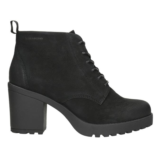 Kotníčková dámská obuv na podpatku vagabond, černá, 726-6016 - 26