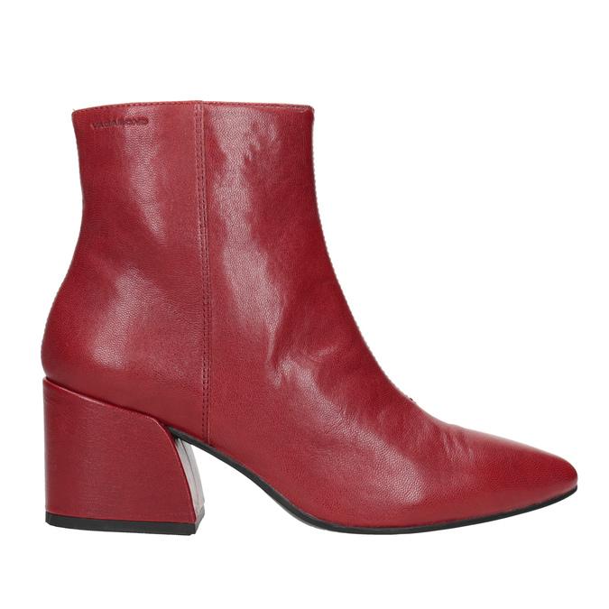 Červené kožené kozačky vagabond, červená, 716-5038 - 26