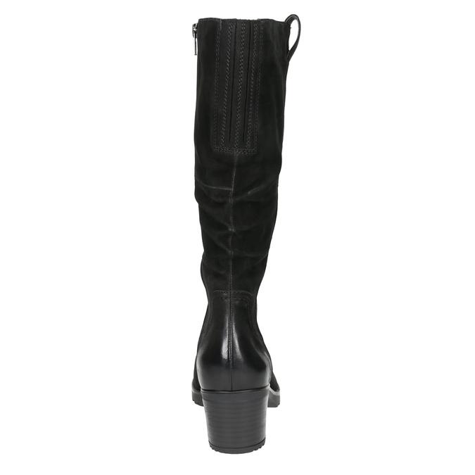 Kožené dámské kozačky bata, černá, 696-6649 - 17