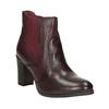 Kožené kotníčkové boty na podpatku bata, červená, 796-5647 - 13