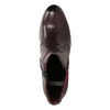Kožené kotníčkové boty na podpatku bata, červená, 796-5647 - 17