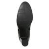 Kožené kotníčkové boty na podpatku bata, černá, 794-6642 - 19