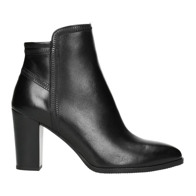Dámská kožená kotníčková obuv bata, černá, 794-6650 - 15