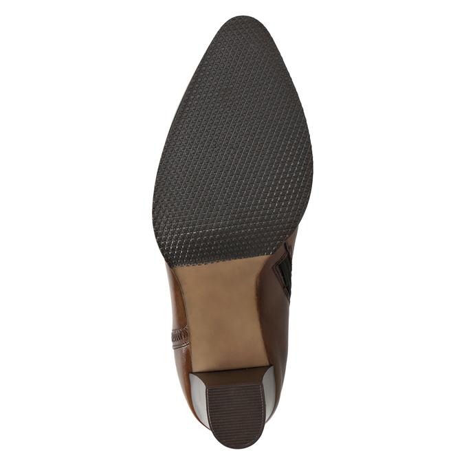 Kožená kotníčková obuv bata, hnědá, 794-4650 - 17