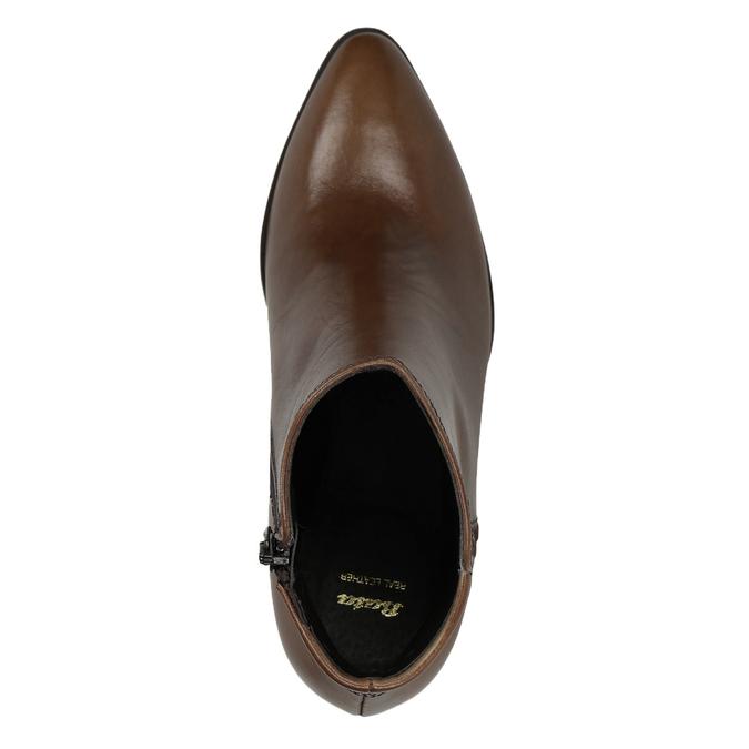Kožená kotníčková obuv bata, hnědá, 794-4650 - 15
