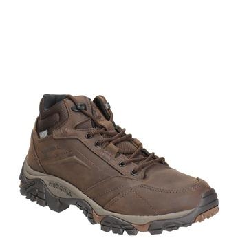 Kožená kotníčková obuv v Outdoor stylu merrell, hnědá, 806-4569 - 13