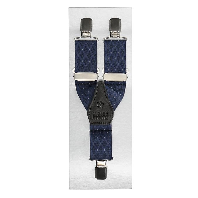 Pánské šle s koženými detaily bata, modrá, 999-9308 - 13