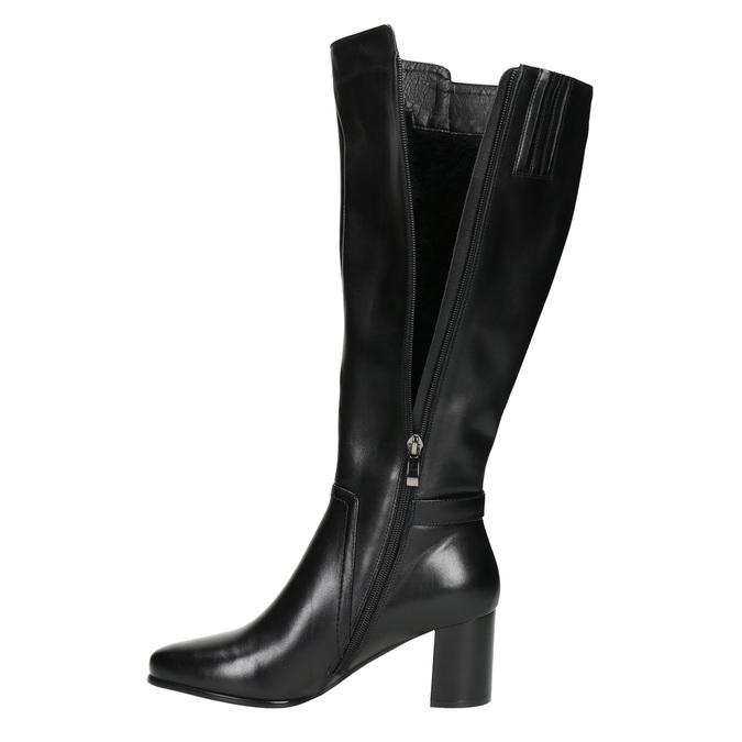 Kozačky na stabilním podpatku bata, černá, 694-6638 - 26