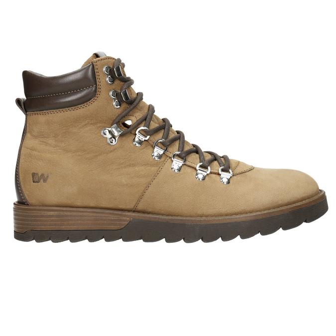 Kožená pánská zimní obuv weinbrenner, hnědá, 896-3700 - 15