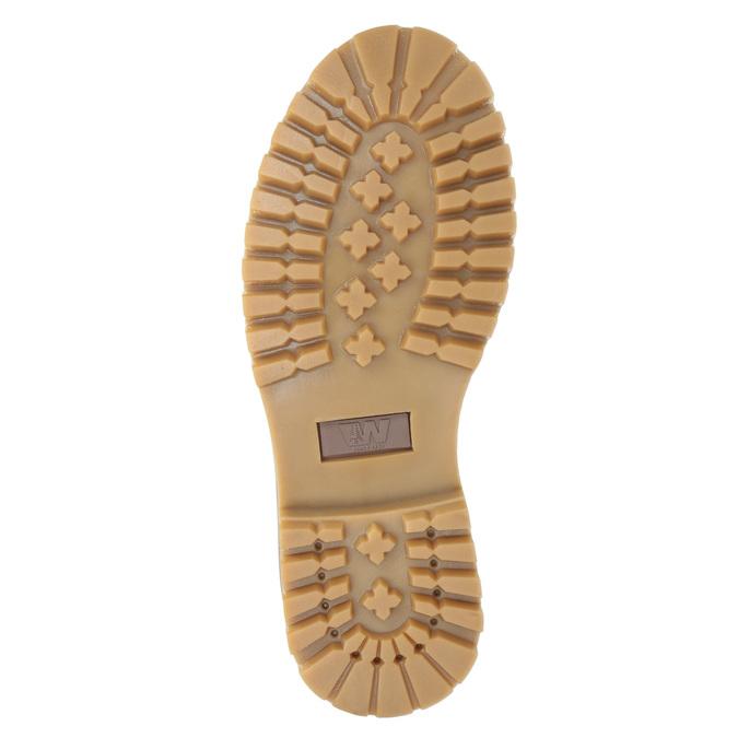 Kotníčková obuv na výrazné podešvi weinbrenner, červená, 596-5664 - 17