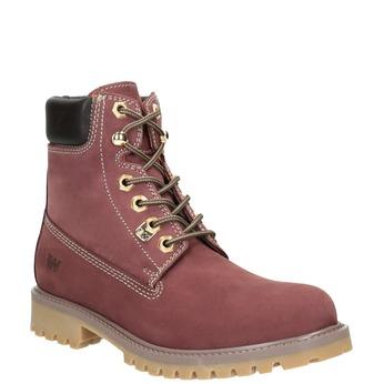Kotníčková obuv na výrazné podešvi weinbrenner, červená, 596-5664 - 13