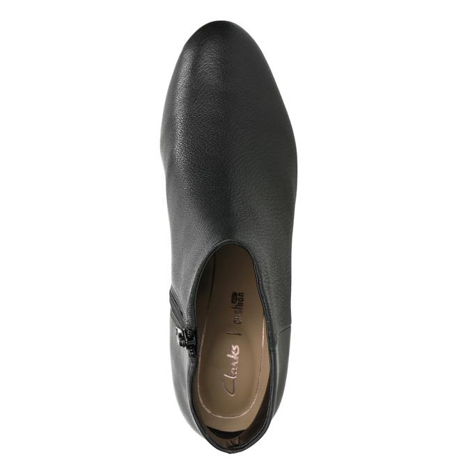 Kožené kotníčkové boty na podpatku clarks, černá, 714-6036 - 15