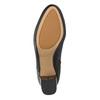 Kožené kotníčkové boty na podpatku clarks, černá, 714-6036 - 17
