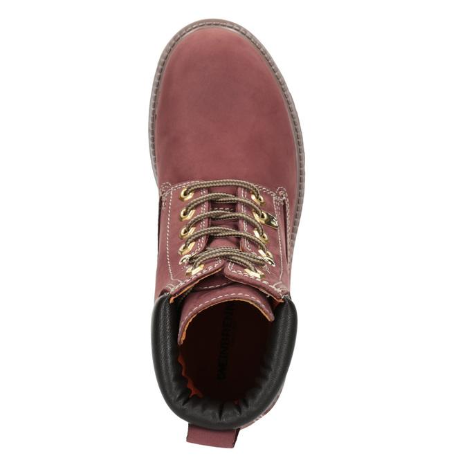 Kotníčková obuv na výrazné podešvi weinbrenner, červená, 596-5664 - 15