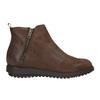 Kožená kotníčková obuv se zipem flexible, hnědá, 594-4227 - 26