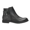 Dívčí kotníčková obuv se třpytkami mini-b, černá, 391-6395 - 26
