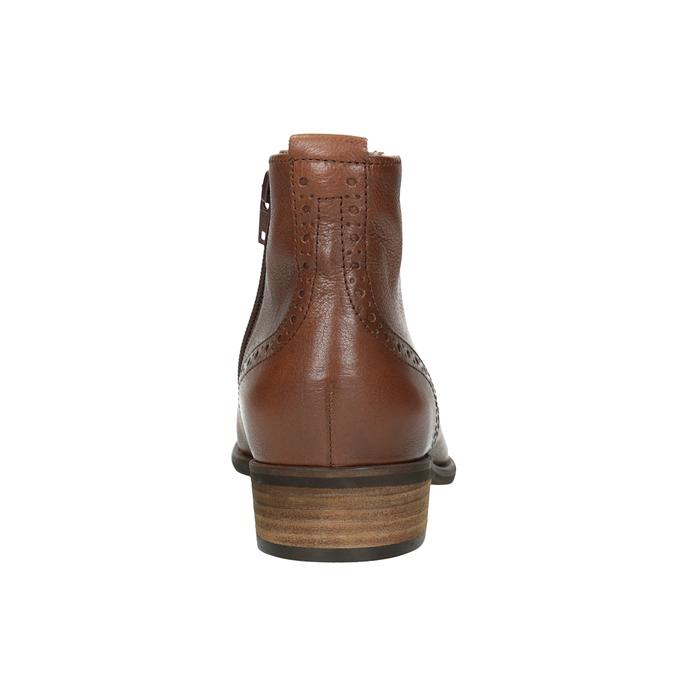 Kožená dámská kotníčková obuv gabor, hnědá, 526-3038 - 16