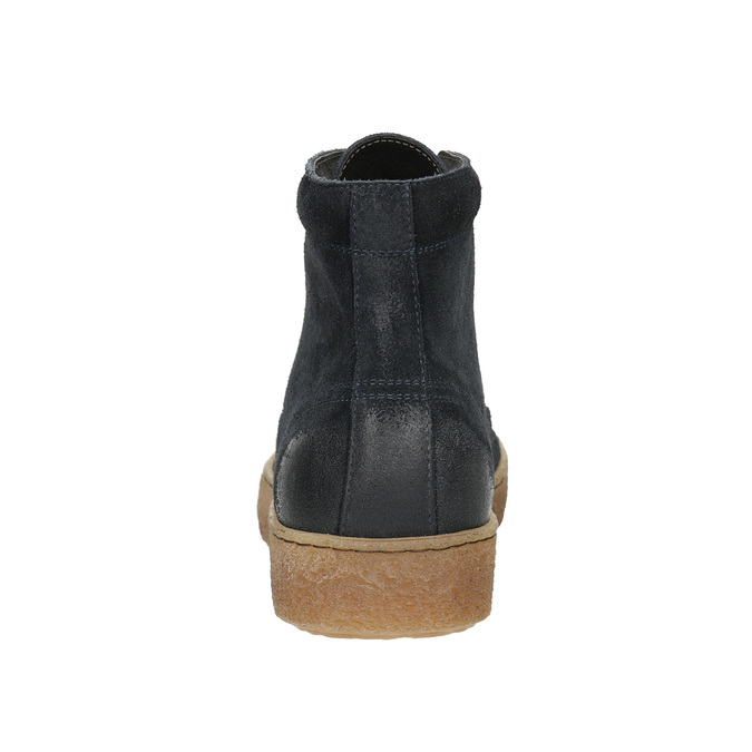 Pánská kožená kotníčková obuv bata, modrá, 843-9631 - 17