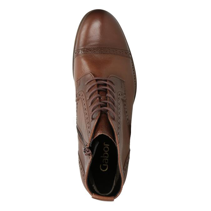 Kožená dámská kotníčková obuv gabor, hnědá, 526-3038 - 15