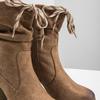 Hnědé kozačky na podpatku bata, hnědá, 799-3613 - 14