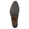 Kožené dámské kotníčkové kozačky bata, hnědá, 696-4653 - 17