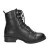 Kožená šněrovací obuv nad kotníky ten-points, černá, 626-6037 - 26