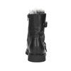Kožená kotníčková obuv s kožíškem bata, černá, 594-6656 - 16
