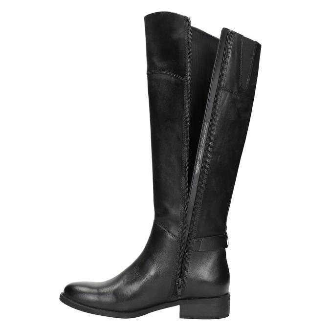 Černé kožené kozačky vagabond, černá, 694-6029 - 15