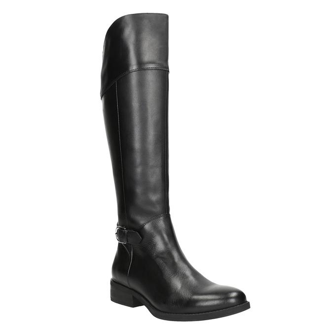 Černé kožené kozačky vagabond, černá, 694-6029 - 13