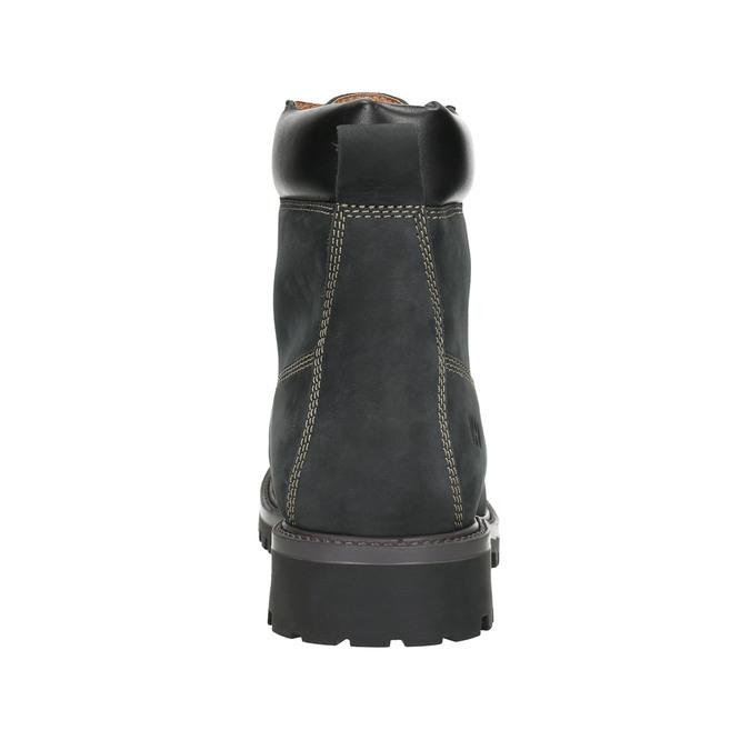 Pánská kožená zimní obuv weinbrenner, černá, 896-6656 - 17