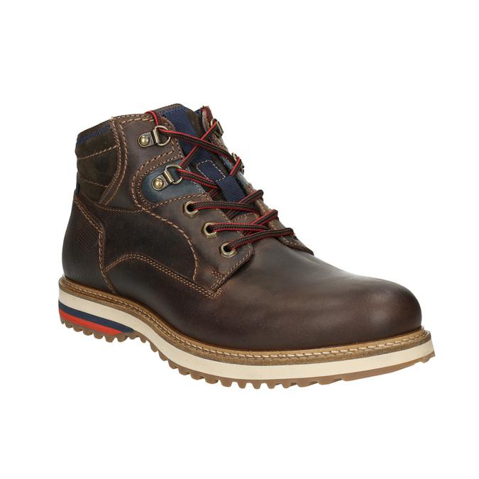 Pánská zimní kožená obuv bata, hnědá, 896-4676 - 13