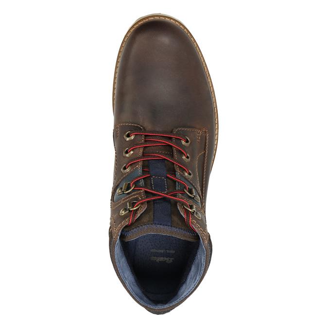Pánská zimní kožená obuv bata, hnědá, 896-4676 - 26