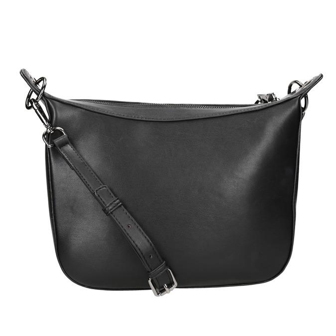 Dámská kabelka s přívěskem bata, černá, 961-6823 - 16