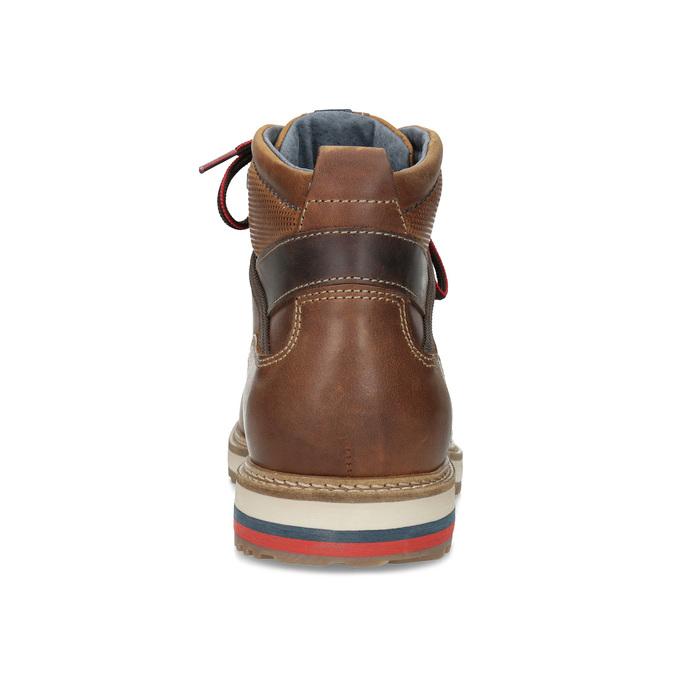 Pánská zimní kotníčková obuv bata, hnědá, 896-3677 - 15